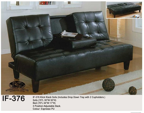 IF-376 Klick Klack Black Sofa - Mike the Mattress Guy