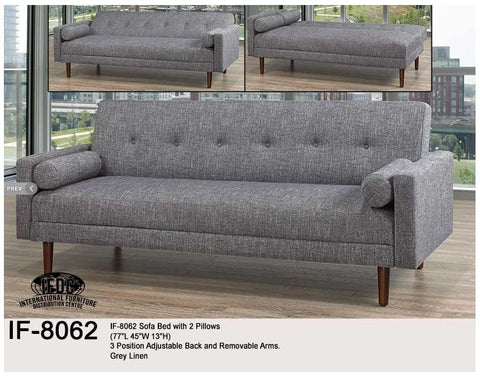 IF-8062 Linen Klick Klack Sofa Bed - Mike the Mattress Guy