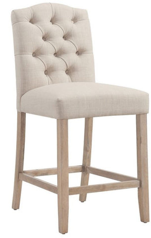 "Lucian 26"" Counter Stool in Beige or Grey - Mike the Mattress Guy"
