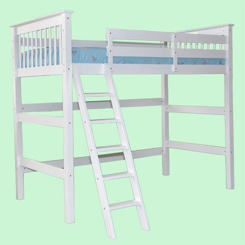 Humboldt Single Loft Bed With Ladder - Mike the Mattress Guy