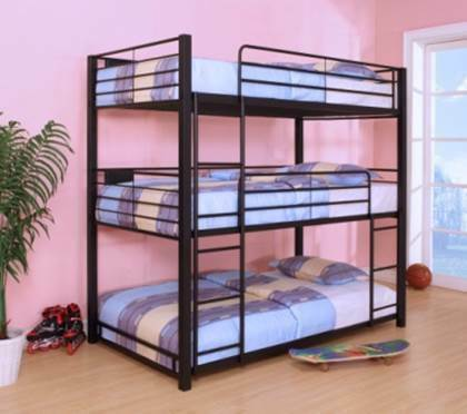 B1019 Triple Bunk Bed - Mike the Mattress Guy