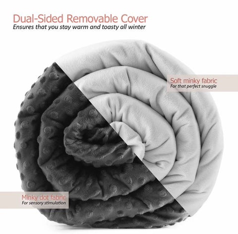 15lb WEIGHTED BLANKET (TWO COLOURS AVAILABLE)