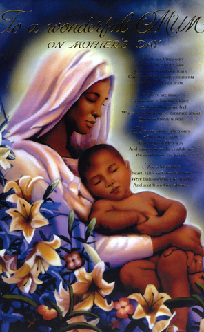 Religious ethnic mothers day card