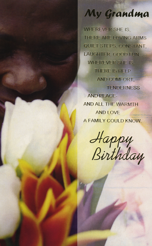Excellent Ethnic Birthday Card For Black Grandma Personalised Birthday Cards Cominlily Jamesorg