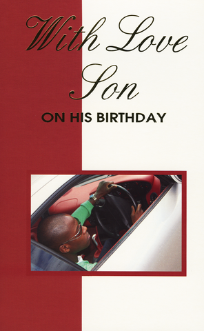 Ethnic Birthday Card For Black Son