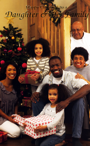 black daughter and family christmas card - Black Family Christmas Pictures