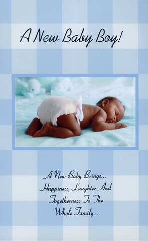 Black ethnic newborn baby greeting cards black gold greeting ethnic greeting card for birth of a baby boy m4hsunfo