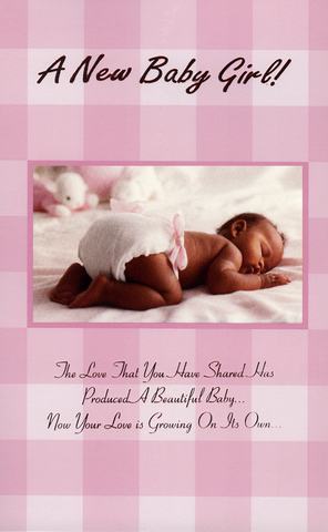 Black ethnic newborn baby greeting cards black gold greeting ethnic greeting card for birth of a baby girl m4hsunfo