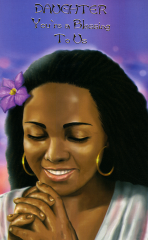 Ethnic Birthday Card For Black Daughter