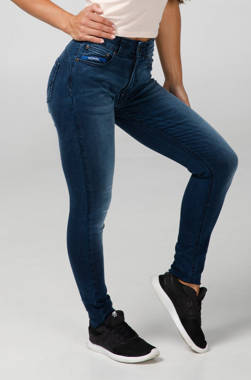BODY FIT HIGH WAIST WOMEN'S JEANS - LAPIS BLUE