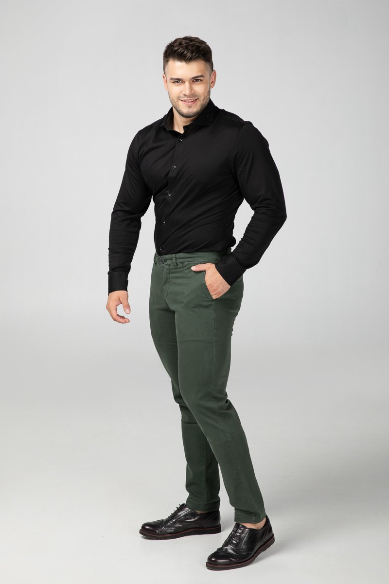 Dress Shirt Intense Black Side View (2687290572881)