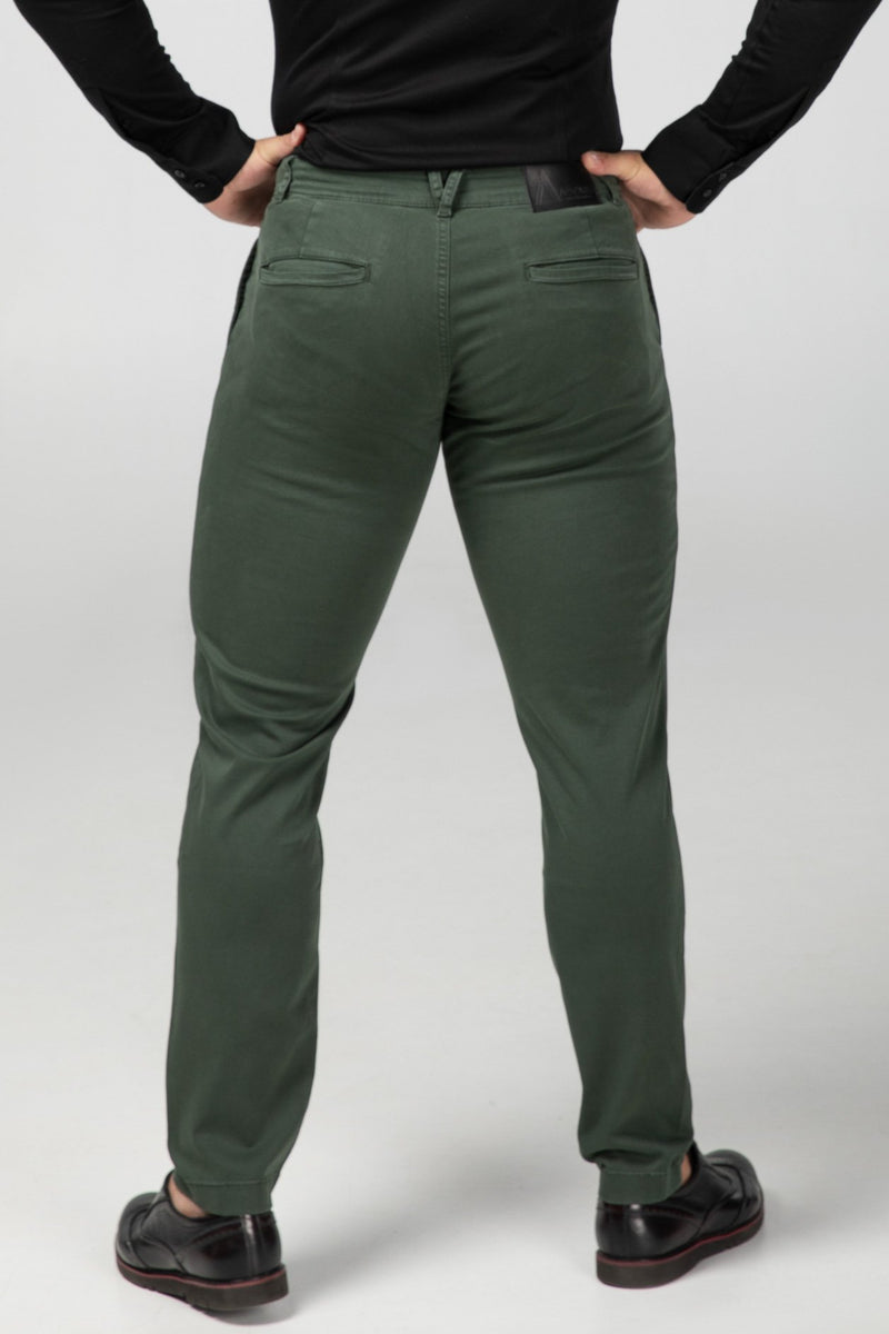 Chino Forest Green Rear View (2416705175633)