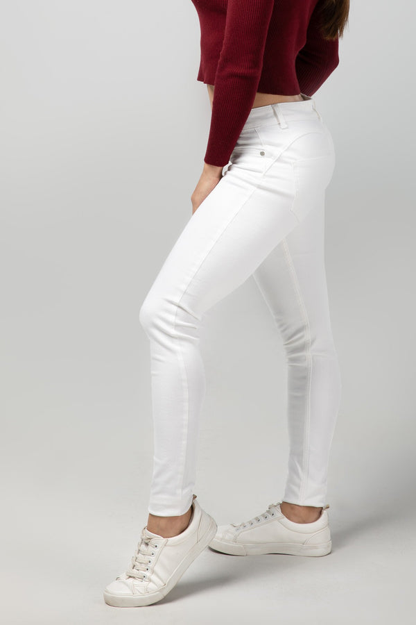 BODY FIT WOMEN'S JEANS - PURE WHITE