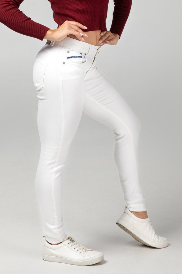 BODY FIT WOMEN'S JEANS - PURE WHITE - Aesparel