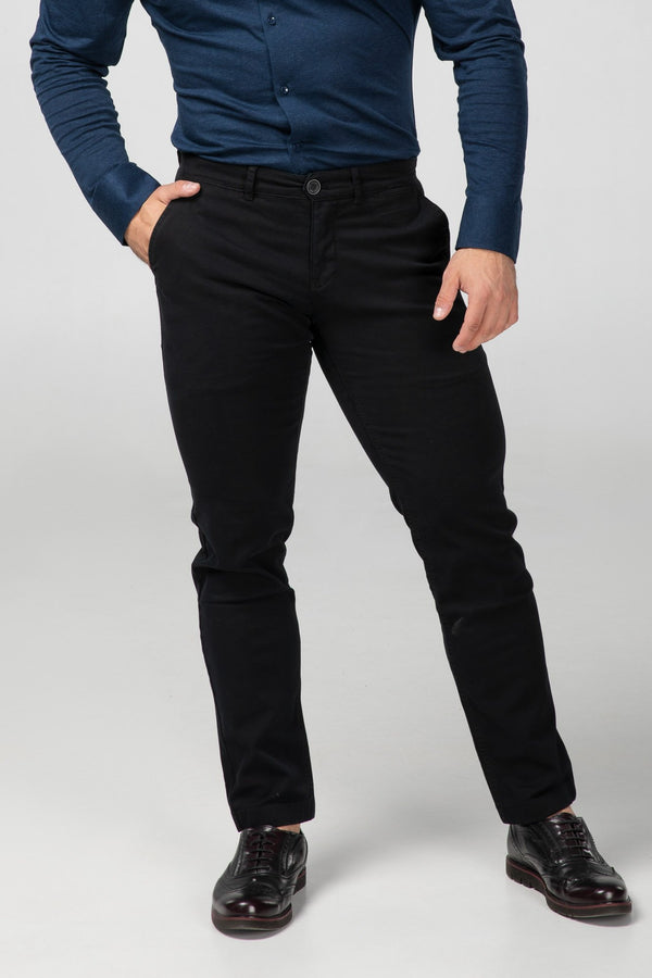 STRAIGHT FIT CHINOS - CARBON BLACK - Aesparel