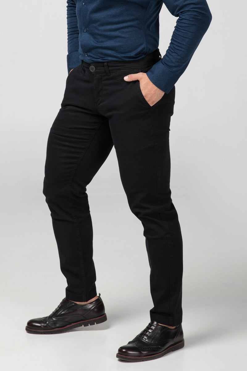 STRAIGHT FIT CHINOS - CARBON BLACK