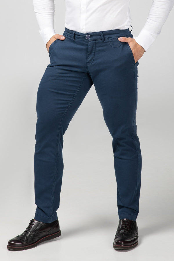 Chino Navy Blue Front View (2416475635793)