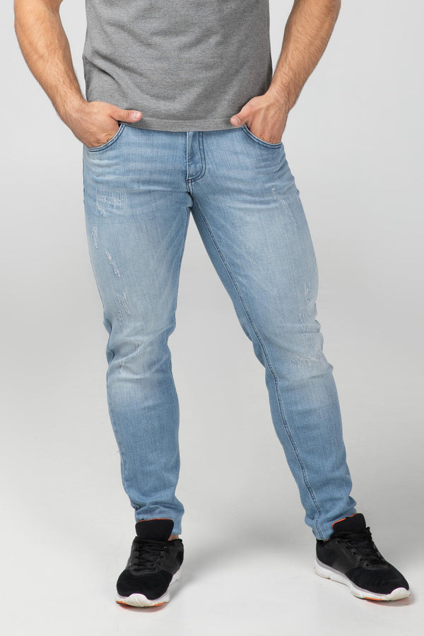 SLIM FIT MEN'S JEANS - BRIGHT DESTROYED