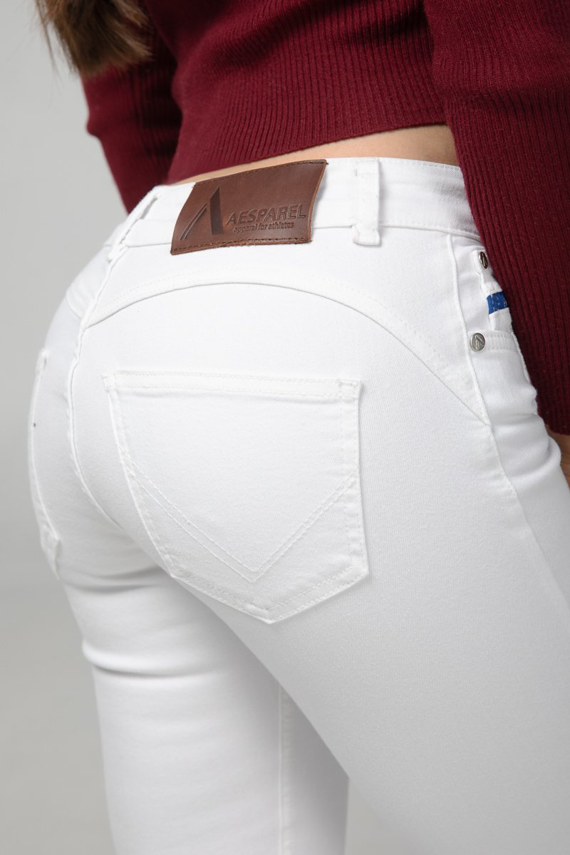 Pure White Destroyed Bottom Detail (3125673656401)