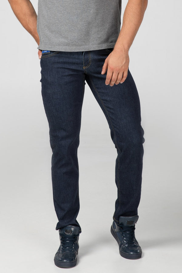 STRAIGHT FIT MEN'S JEANS - DARK - Aesparel