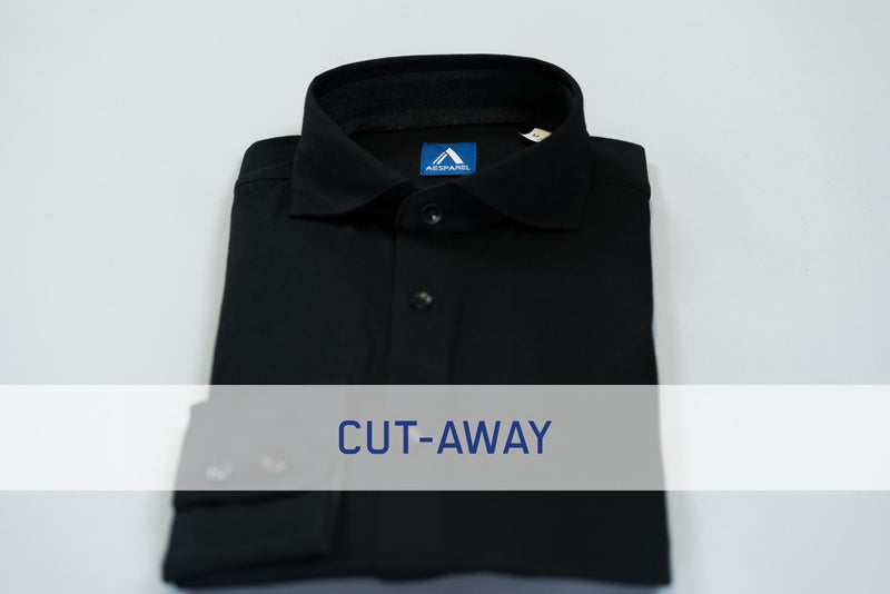 MEN'S DRESS SHIRT - INTENSE BLACK (2687290572881)