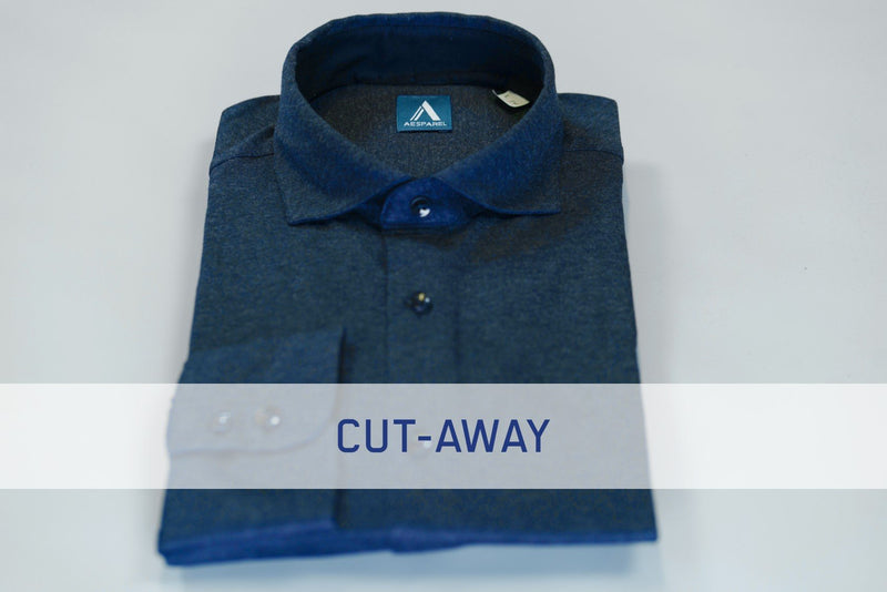 MEN'S DRESS SHIRT - BLUE MELANGE