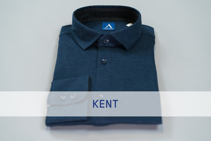 MEN'S DRESS SHIRT - BLUE MELANGE (2687335891025)
