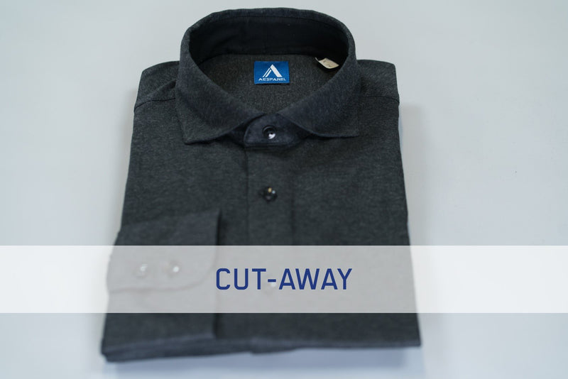 MEN'S DRESS SHIRT - GREY MELANGE (2684844605521)