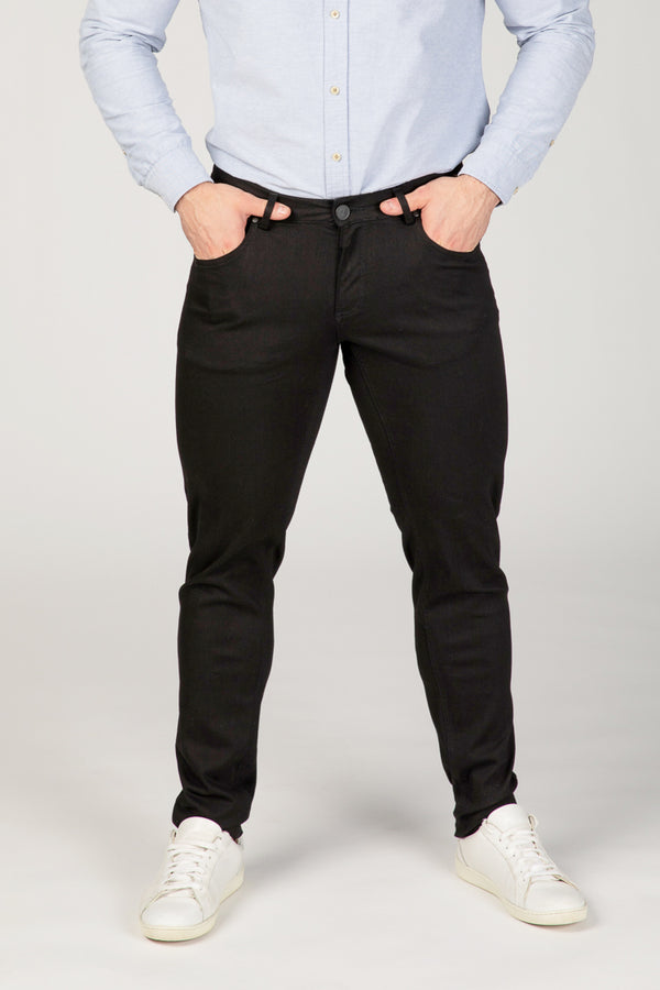 SLIM FIT MEN'S JEANS - PURE BLACK