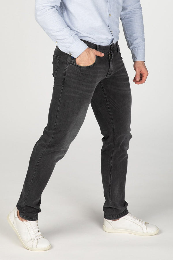 STRAIGHT FIT MEN'S JEANS - STONE GREY - Aesparel