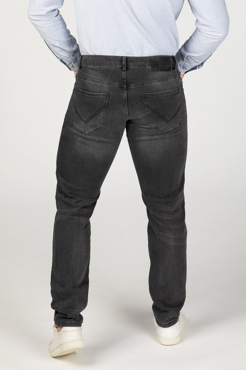 STRAIGHT FIT MEN'S JEANS - STONE GREY