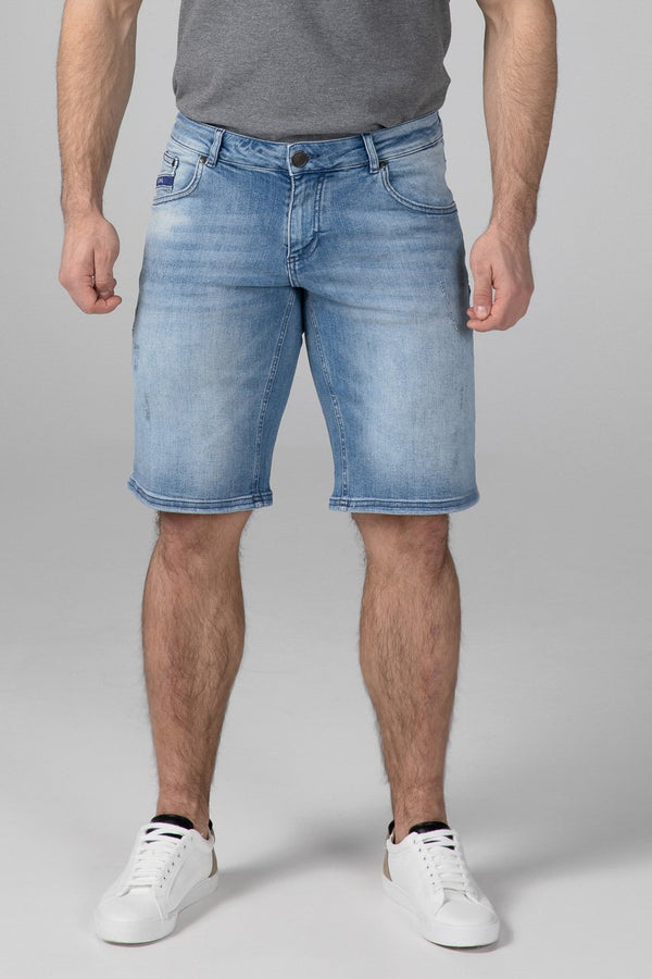 SLIM FIT MEN'S JEANS SHORTS - SUN KISSED