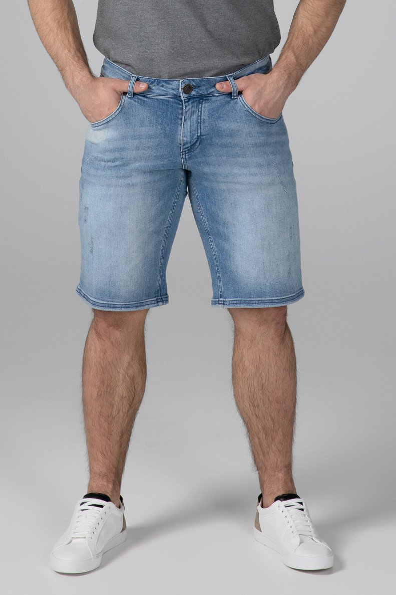 SLIM FIT MEN'S JEANS SHORTS - SUN KISSED - Aesparel