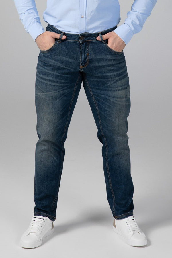 STRAIGHT FIT MEN'S JEANS - RUSTY BLUE