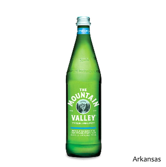Mountain Valley Sparkling Water 750ml Glass Bottle Case of 12