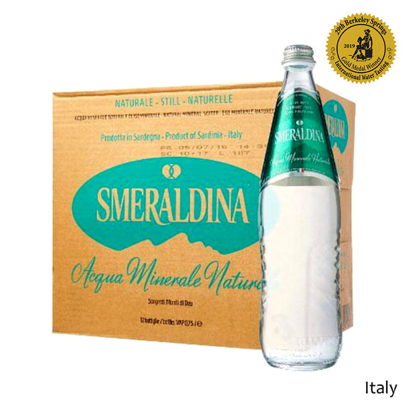 Smeraldina 750ml Artesian Italian Water Case of 12