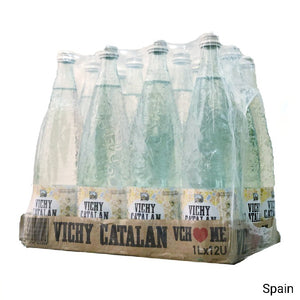 Vichy Catalan Naturally Sparkling Mineral Water - 1 Liter - Case of 12