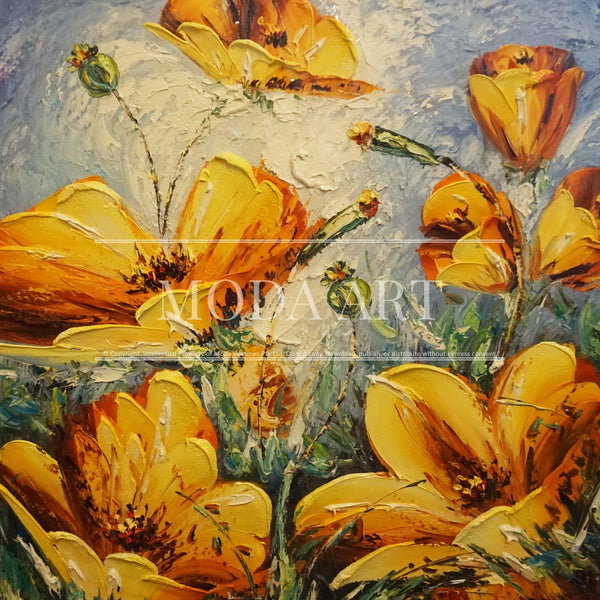 Poppy Flowers (Gold)