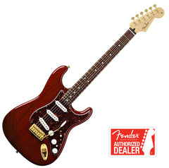 FENDER Stratocaster Guitar Deluxe Players Rosewood Neck - Crimson Red Transparent | Guitare FENDER Stratocaster Deluxe Players, Touche en Rosewood - Crimson Red Transparent - Centre de musique Victor