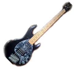 MUSIC MAN bass SRV Maple Neck - Sapphire Black | Basse MUSIC MAN SRV Maple Neck - Sapphire Black - Centre de musique Victor
