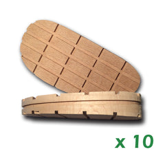 "Blocs Profilés 5"" X 2"" X 7/8"" (talon) et 5/8"" (pointe)- 10 Unités (1.45$ /Ch) 