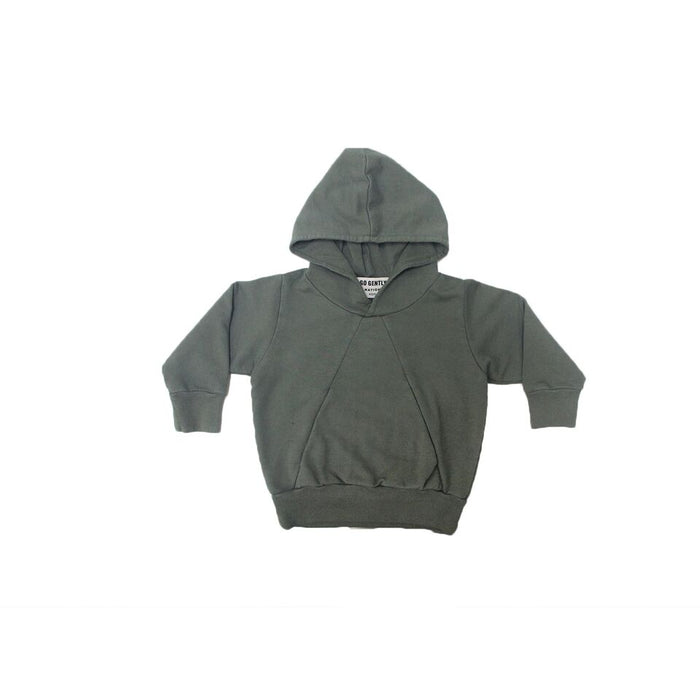 Double Pocket Hoodie - Military - Blue Sage Baby + Kids