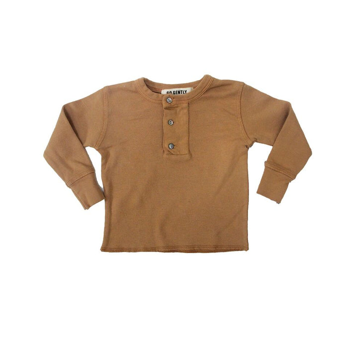 Wide Placket Henley - Blue Sage Baby + Kids