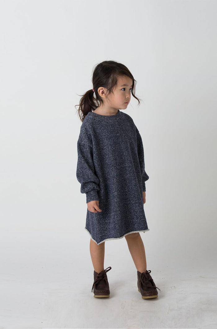 Indigo Puff Sleeve Dress - Blue Sage Baby + Kids