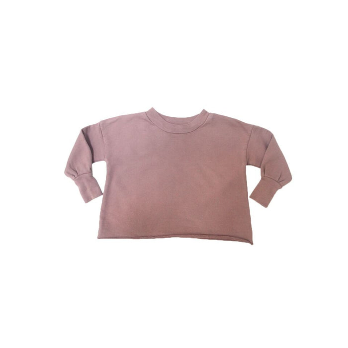 Puff Sleeve Sweatshirt - Cinnamon - Blue Sage Baby + Kids