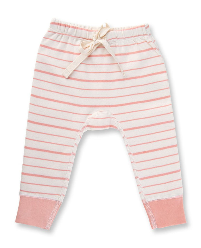 Peach Stripe Pant - Blue Sage Baby + Kids