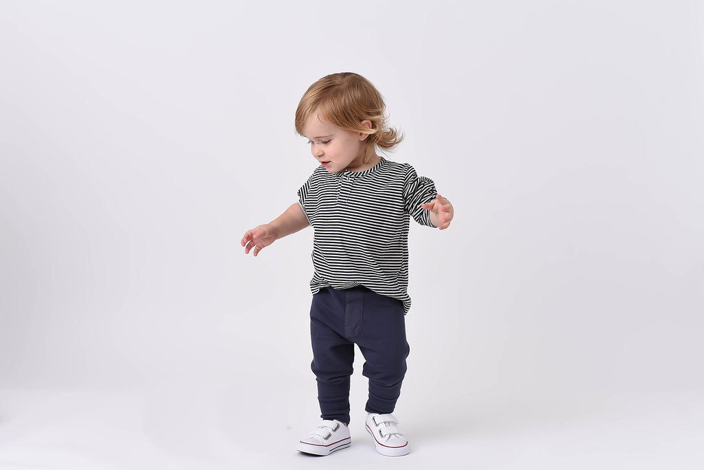 French Terry Trouser - Blue Sage Baby + Kids