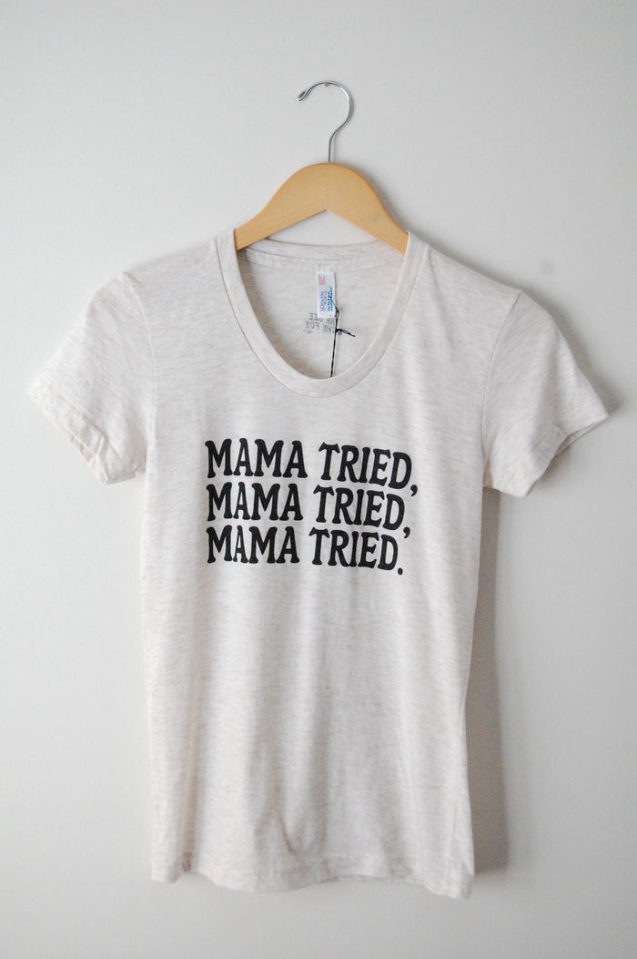 Mama Tried Tee - Blue Sage Baby + Kids