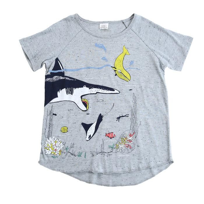 Shark Tee in Slate - Blue Sage Baby + Kids