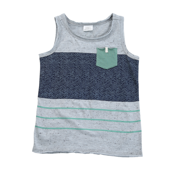 Jacob Colorblock Tank - Blue Sage Baby + Kids